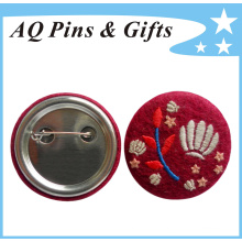 Outstanding Tinplate Button Badge with Embroidery Logo (button badge-51)
