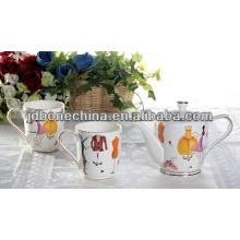AMERICAN estilo café té espresso conjunto taza y plato cena conjunto de cerámica melamina vajilla set