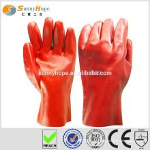 Sunnyhope schützt pvc punktierte Hand Baumwollhandschuhe