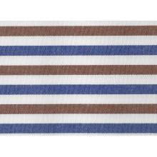 Brown/marine rayures confortables tissés teinté tissu pour chemises