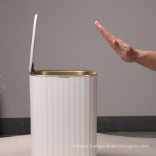 15L plastic trash can kitchen garbage bin home plastic waste bins kitchen trash cans waterprrof sensor trash bin