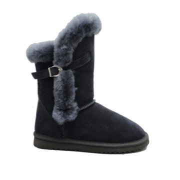 Women's Snow Boots With Flat Heels In Winter
