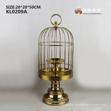 2017 New Stainless steel copper color craft bird cage for decoration