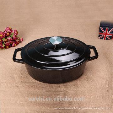 Oval Stew Casserole Dish Émaillé en fonte de cuisine