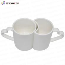 High Quanlity Bone China 11oz ceramic sublimation couple mug of white color
