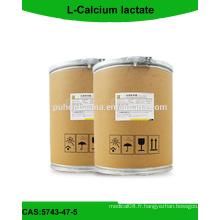 L-Poudre de lactate de calcium avec une bonne qualité // CAS: 5743-47-5