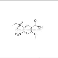 CAS 71675-87-1 Polvo cristalino blanco Ácido 4-amino-5-etilsulfonil-2-metoxibenzoico para intermedios de amisulprida