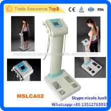 MSLCA02i Analyseur économique de graisse corporelle humaine / Analyseur de composition corporelle compacte / 3 fréquences d'essai décapant de graisse corporelle