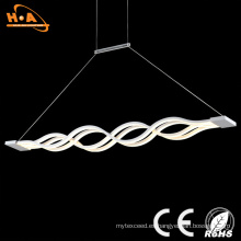 Luz pendiente decorativa cristalina interior hermosa de la forma doble de la onda LED