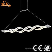 Luz decorativa de cristal interna bonita do pendente do diodo emissor de luz da forma de onda dobro