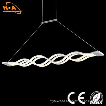Beautiful Double Wave Shape Indoor LED Crystal Decorative Pendant Light