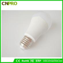 Ampoule LED A19 en plastique + aluminium de haute qualité 9W