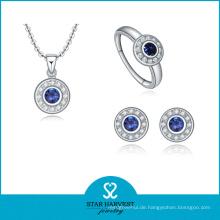 2016 beliebtesten 925 Sterling Silber Halskette und Ohrring (J-0015)