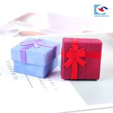 Caixas de presente de jóias de papelão alfandegárias para colares cor impressão pulseira brinco caixa de presente barato