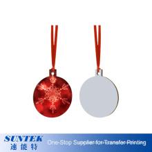 Customized Logo Christmas MDF Hanging Gift Circle Shape Custom Sublimation MDF Blank Christmas Ornaments