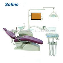 Unidade dentária com couro real com unidade odontológica CE & FDA