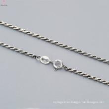 Latest 925 Pure Silver Twist Chain Necklace Design