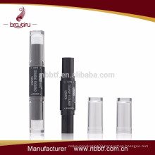 2015 fashion dual heads empty lipstick bottle with two colors