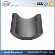 Ímã de cerâmica permanente de segmento de ferrite para o motor do ventilador de teto