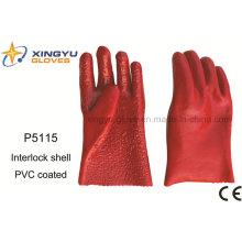 Cotton Interlock PVC Coated Safety Work Glove (P5115)
