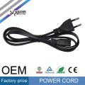 SIPU de alta velocidad para PC al por mayor cable de alimentación de CA cable de la computadora cable eléctrico 2pin estilo de la UE cable de alimentación
