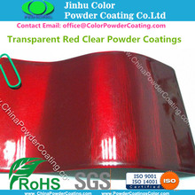 Transparente Red Clear Powder Coating
