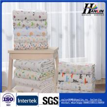 100% tela de algodón 40s 180gsm sola tela impresa de punto para ropa de bebé