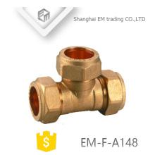 EM-F-A148 Connecteur rapide en laiton Raccord en T de compression pex