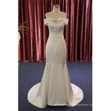 off Shoulder Satin Bow Mermaid Bridal Wedding Gown