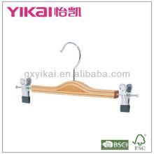 Crochet de jupe en bois de style nouveau 2013 avec clips en métal