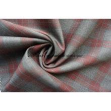 Шерстяная ткань для костюма с красным чеком