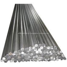 1045 barra de aço hexagonal