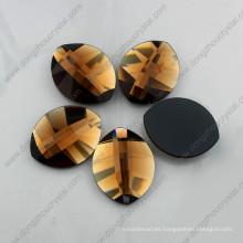Piedra de forma de hoja de oro para accesorios de joyería