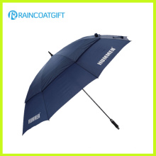 Parapluie promotionnel fait sur commande de golf de fibre de verre de double d'auvent de 30 pouces