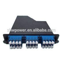 Caixa de distribuição de fibra óptica com lc upc duplex para mpo 12 patch patch cord