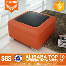 Moroccan multicolored leather footstool with cheapest price