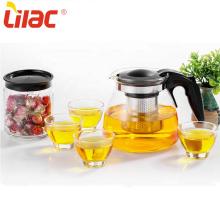 Lila klar Kaffee Teekannen Tasse Teeservice Glas