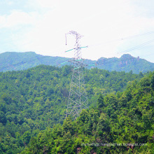 220kV Tension Power Transmission Angle Iron Tower
