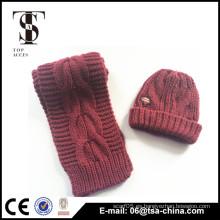 Mujeres lana lindo sombrero de gorro de invierno Ski Crochet sombreros nuevo tapón