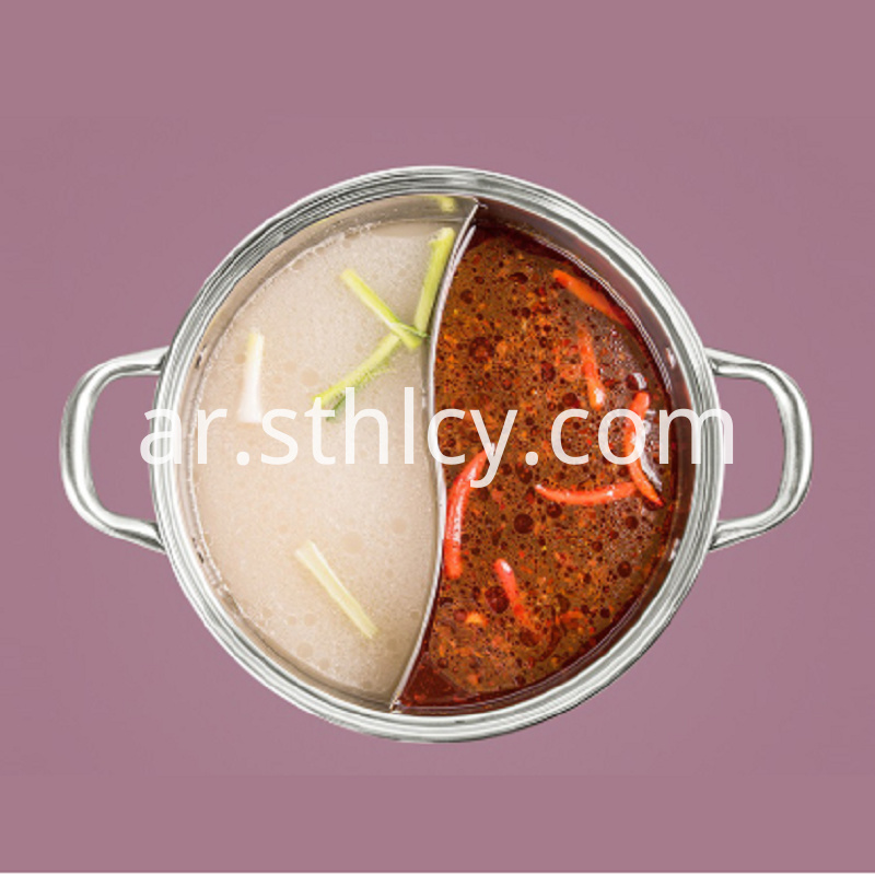 Large Capacity Hot Pot With Glass Cover