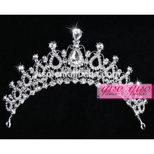 Coronas del rhinestone al por mayor del cristal del desfile de la manera