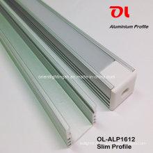 Profilé mince en aluminium anodisé par LED (ALP1612)