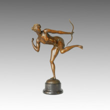 Sports Statue Female Archer Bronze Sculpture, Milo TPE-123