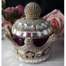 Garrafa de perfume de cristal da coroa da faísca para peças centrais do casamento