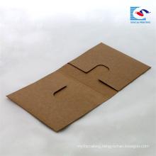 custom brown paper media cases CD packaging box