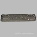 Billig Rechteck Namensschild mit Stahlplatte