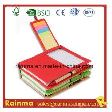 Papiernotizbuch mit Sticky Memo Pad und Stift