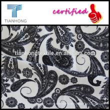 Phoenix-Stil bedruckt Spandex Elastan weißen Hintergrund Baumwollstoff mit gute Strecke für Damenbekleidung