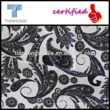 estilo de Fênix impresso em tecido de algodão lycra elastano branco fundo com bom alongamento para roupas femininas