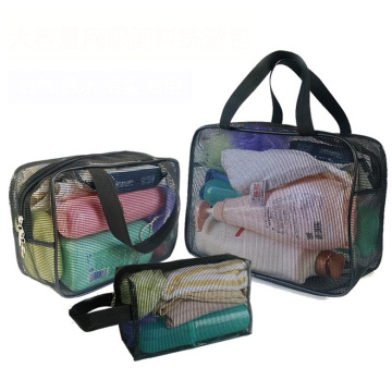Travel Trip Holiday Beach Mesh Tote Bolsas de ducha